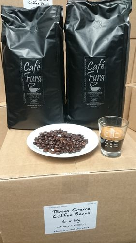 Fura Caffe' Torino Creme Coffee Beans 1 Box 6x1kg Smooth and Tasty