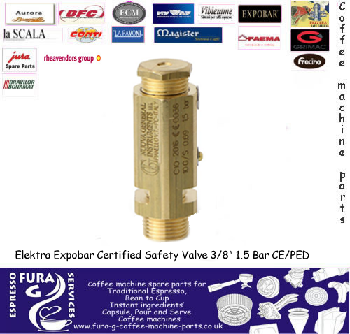 "BOILER SAFETY VALVE  3/8""M - 1.5 bar CE/PED"