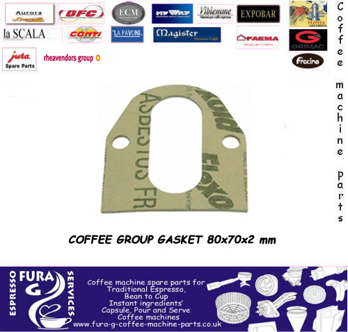 COFFEE GROUP GASKET 80x70x2 mm