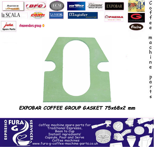 COFFEE GROUP GASKET 75x68x2 mm