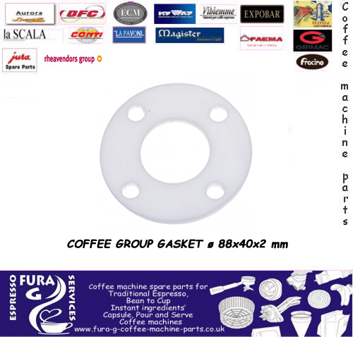 COFFEE GROUP GASKET ø 88x40x2 mm