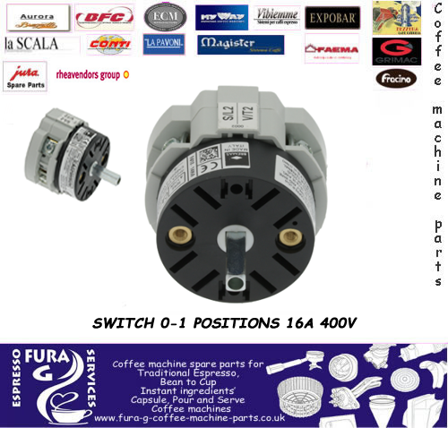 SWITCH 0-1 POSITIONS 16A 400V
