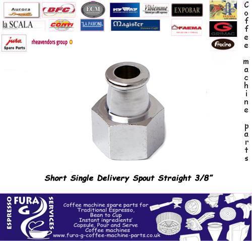 1-CUP STRAIGHT SHORT SPOUT ø 3/8""